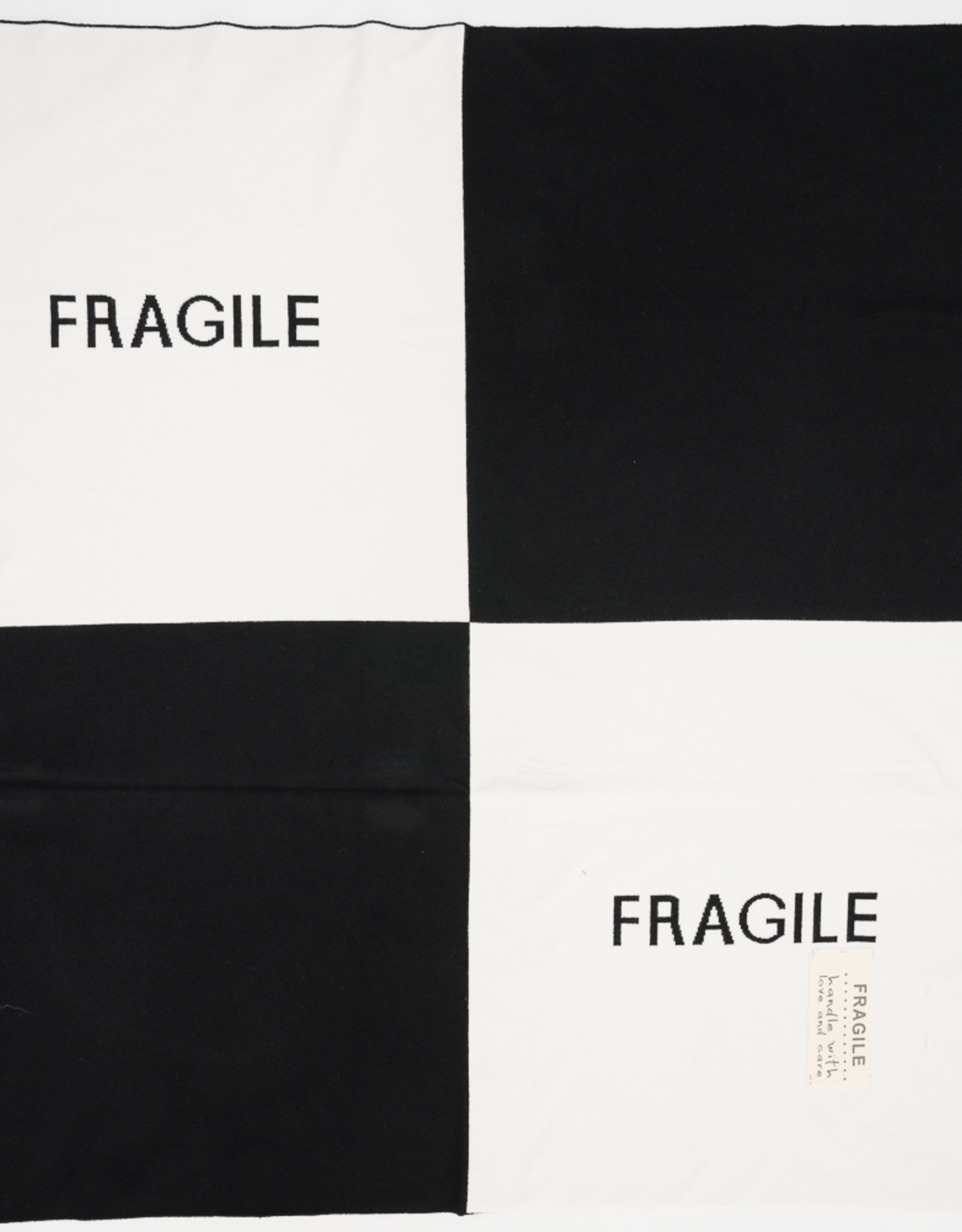 FRAGILE Fragile Knit Colorblock 'FRAGILE' Baby Blanket