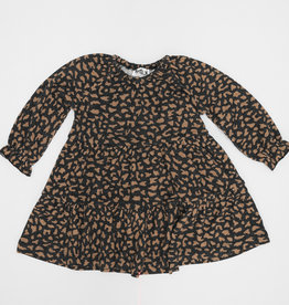 Milk Milk Tiered Leopard Dress