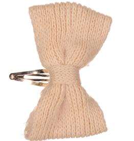 Dacee Dacee Mohair Knit Bow Snap Clip