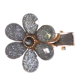 Dacee Dacee Single Flower and Crystal Clip