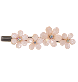 Dacee Dacee Four Flower and Crystal Clip