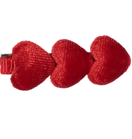 Dacee Dacee Triple Velvet Heart Small Clip