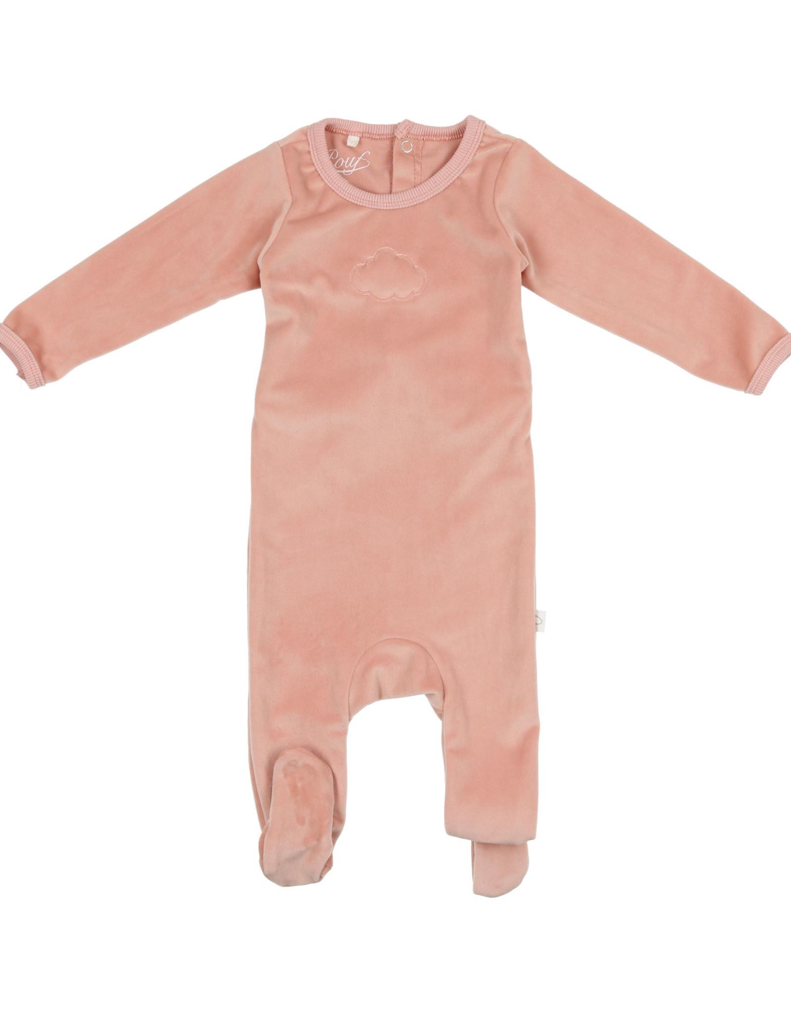 Pouf Pouf Velour Cloud Pajama Footie