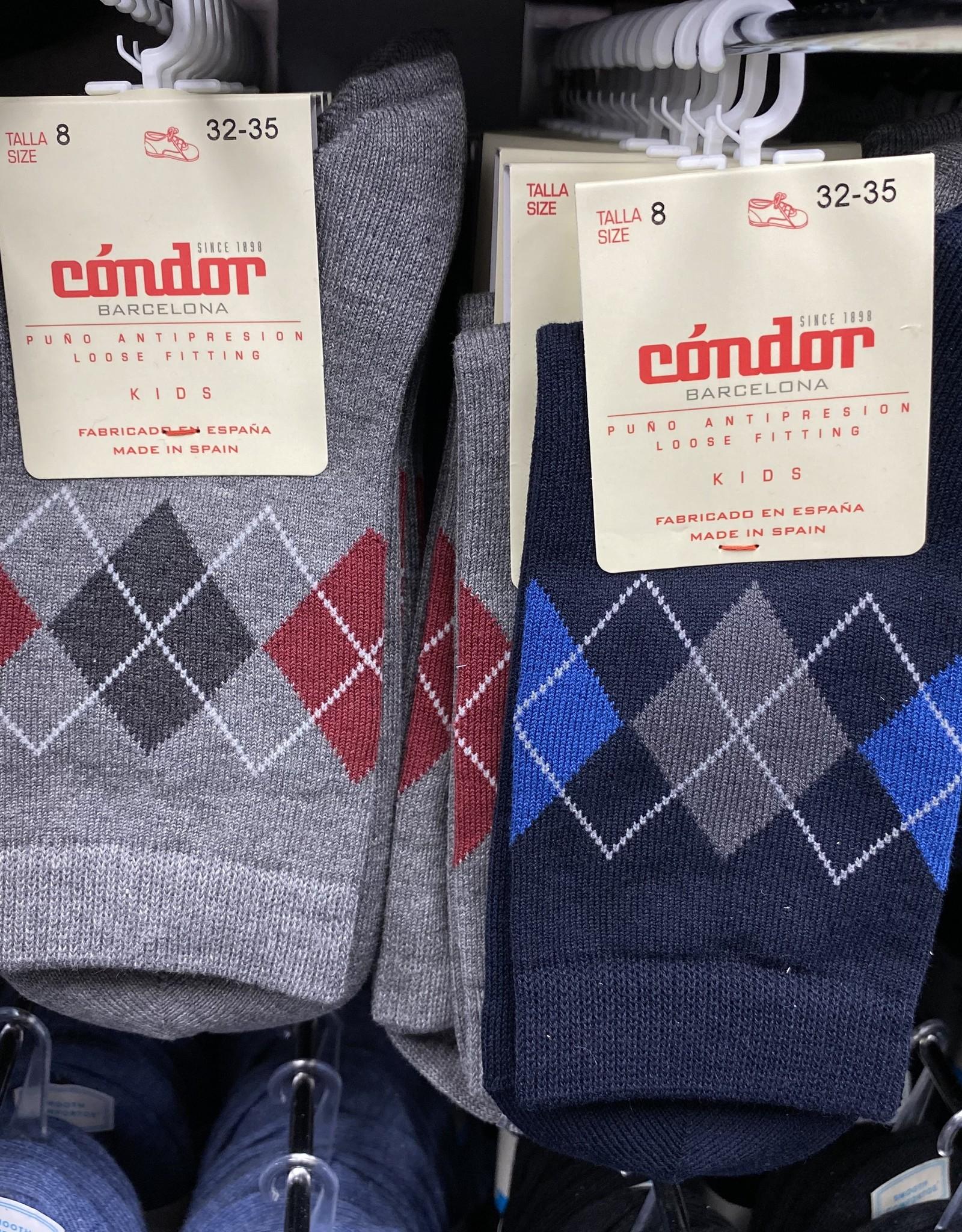 Condor Condor Boys Argyle Print Sock
