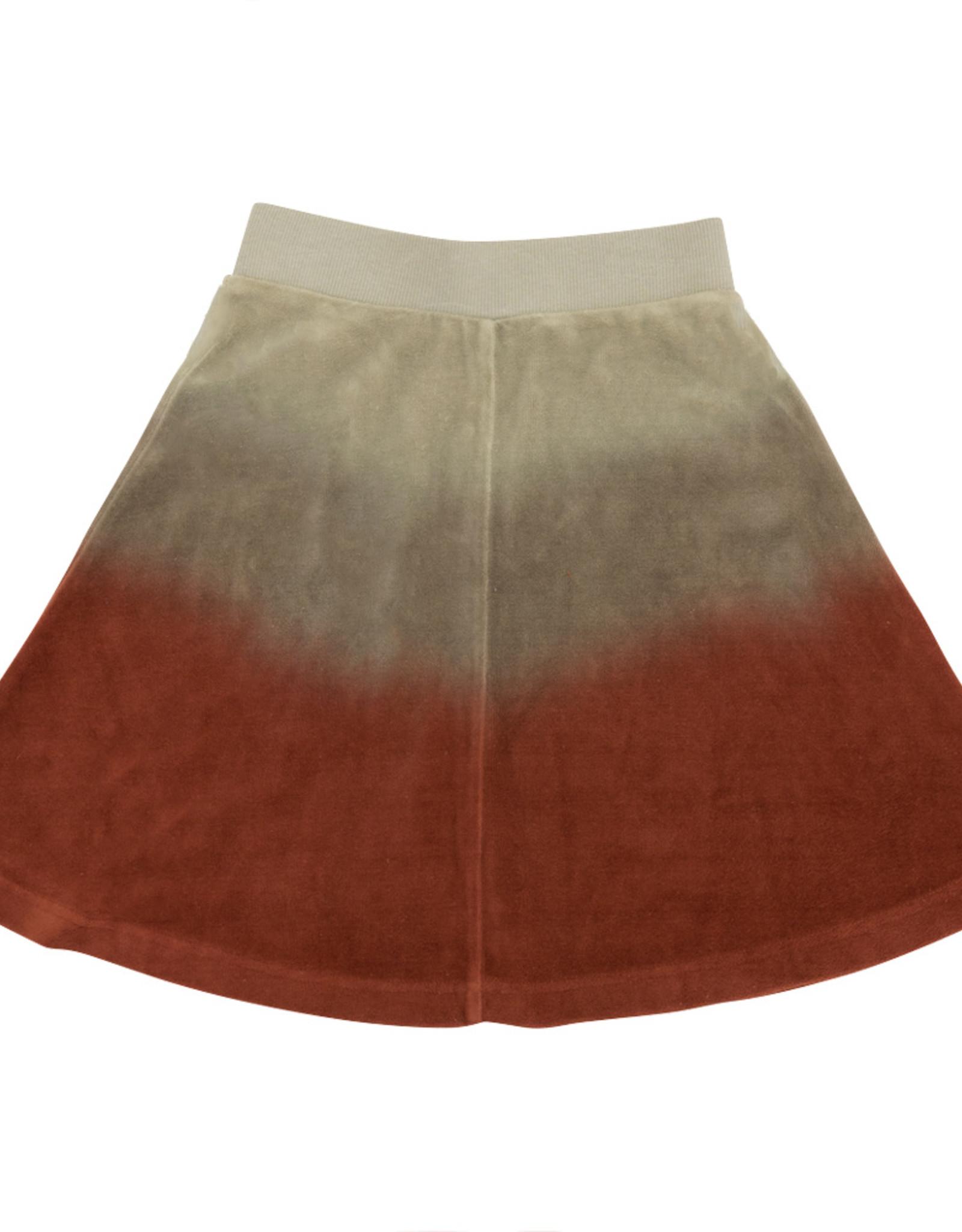 FIVE STAR Five Star Dip Dye Velour Flare Skirt