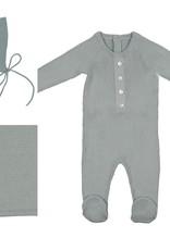 Noovel Noovel Knit 3 Piece Set (Footie/Bonnet/Blanket)