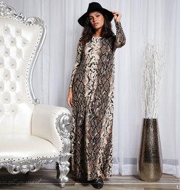 Bella Donna Bella Donna Snakeskin Maxi Dress