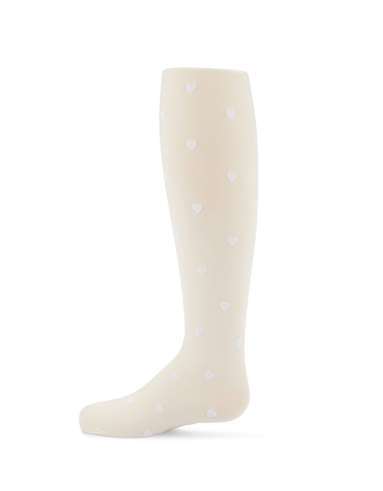 Memoi Memoi Flocked Hearts Microfiber Tights