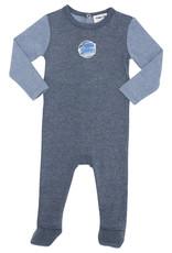 Pronto Pronto Two Tone Ribbed Footie Pajama