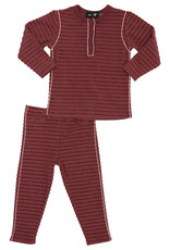 PeekABoo Peek A Boo Horizontal Rib with Contrast Piping Pajama