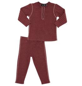 PeekABoo Peek A Boo Horizontal Rib with Contrast Piping Pajama
