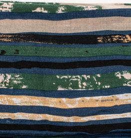 Cherie Cherie Multi Stripe Printed Scarf Pretied