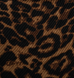 Cherie Cherie Pleated Leopard Printed Scarf Pretied
