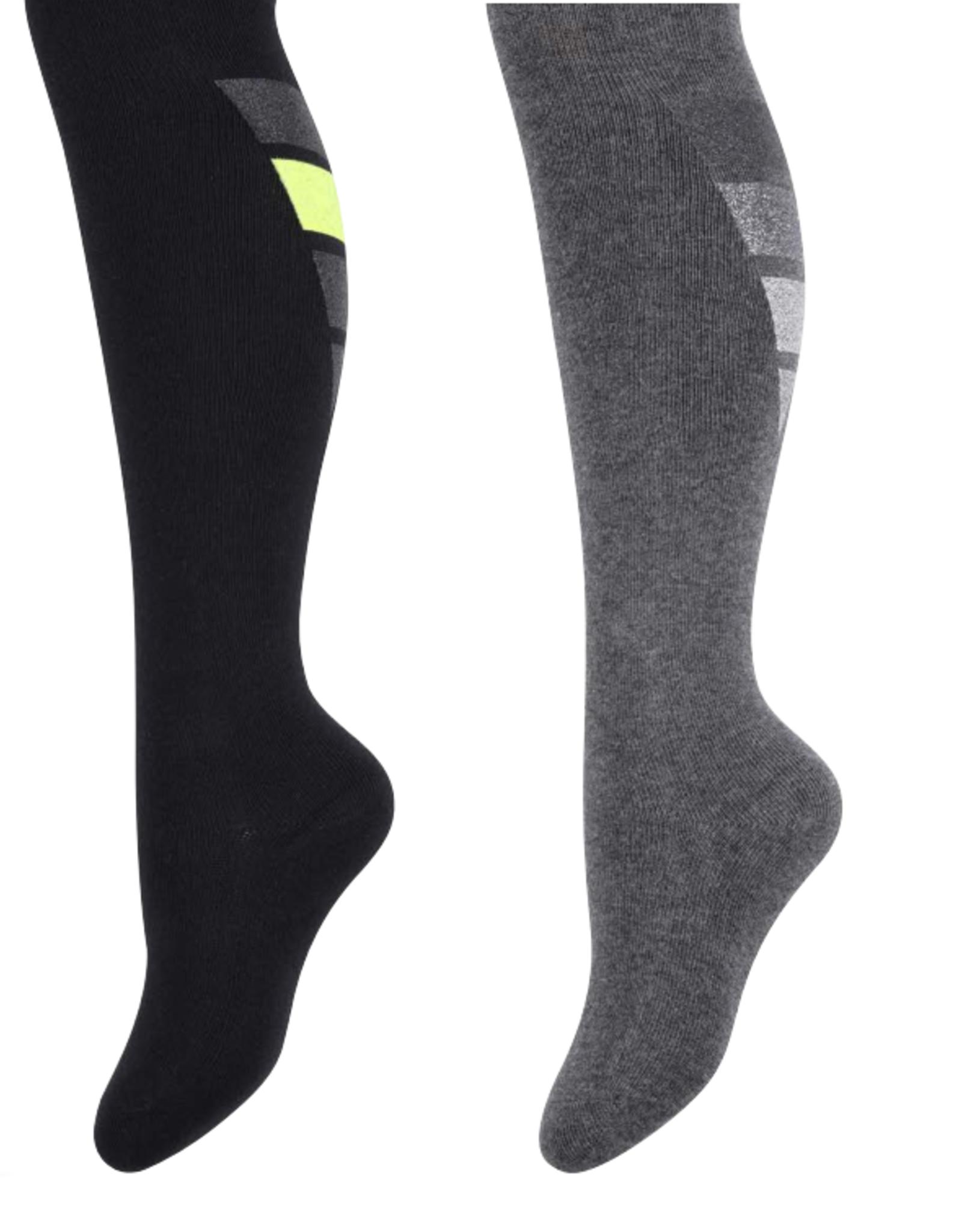 Zubii Zubii Metallic V Stripes Knee Sock