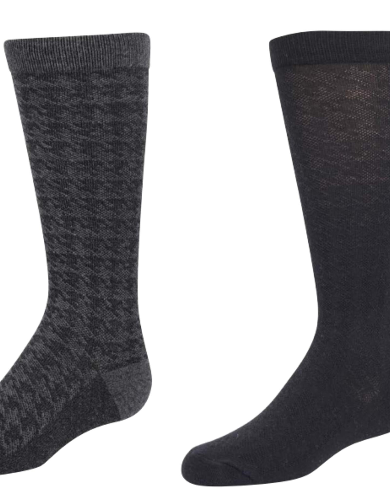 Zubii Zubii Houndstooth Texture Knee Sock