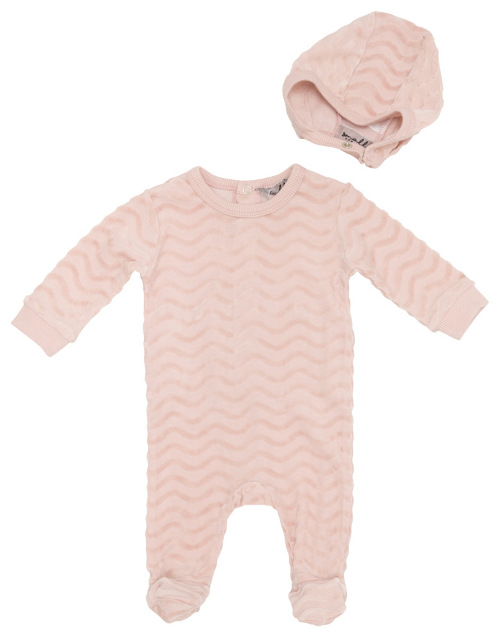 Small Moments Small Moments Wavy Footie with Bonnet