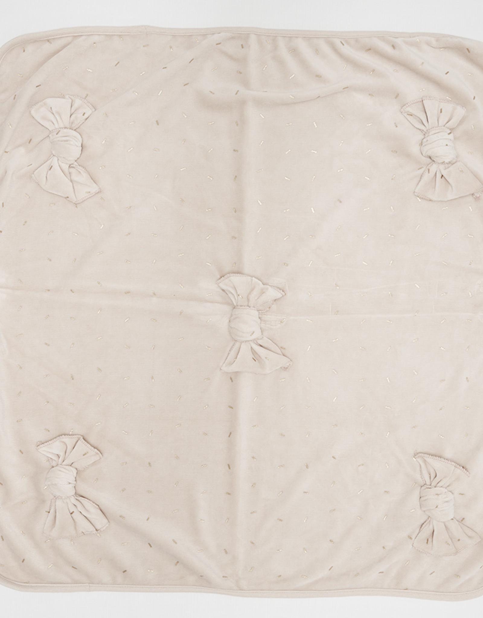 FRAGILE Fragile Velour Sprinkles 5 Bows Blanket