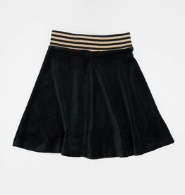 FIVE STAR Five Star Velour Aline Skirt with Striped Elastic Waist
