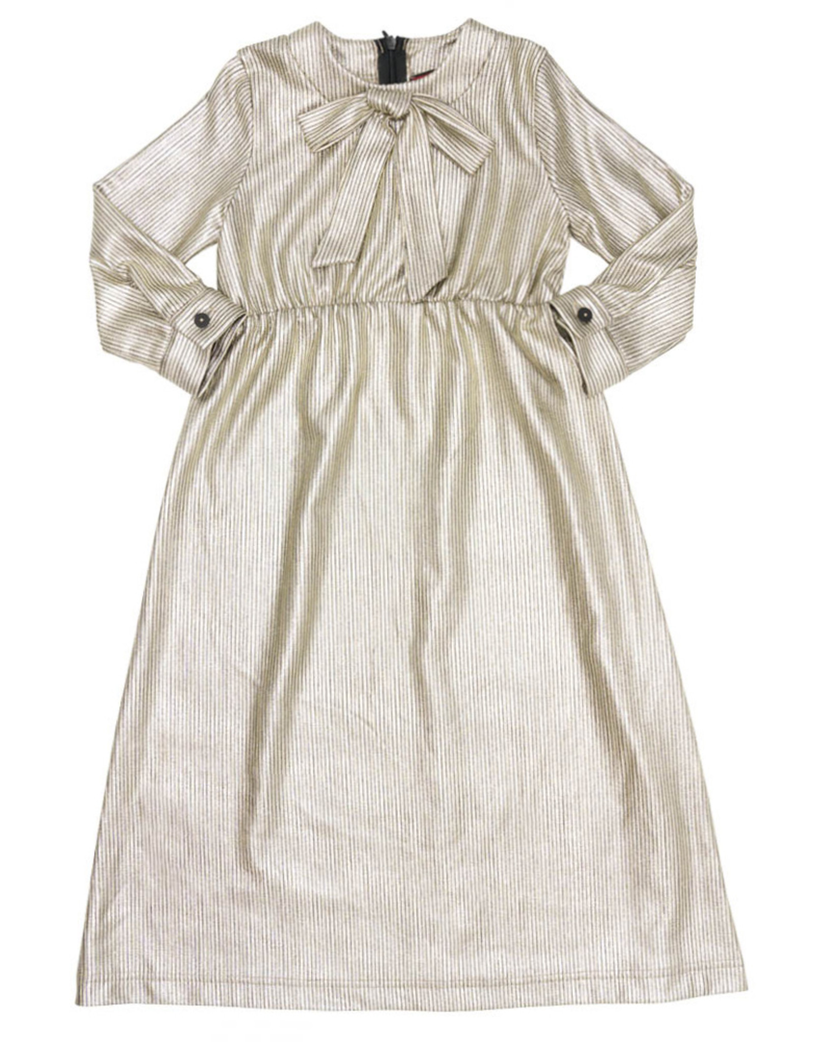 Lola Lola Vertical Striped Robe with Bow