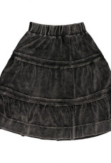 Pronto Pronto Tiered Washed Velour Skirt