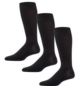 Memoi Memoi Mens 3 Pack Ribbed Sock