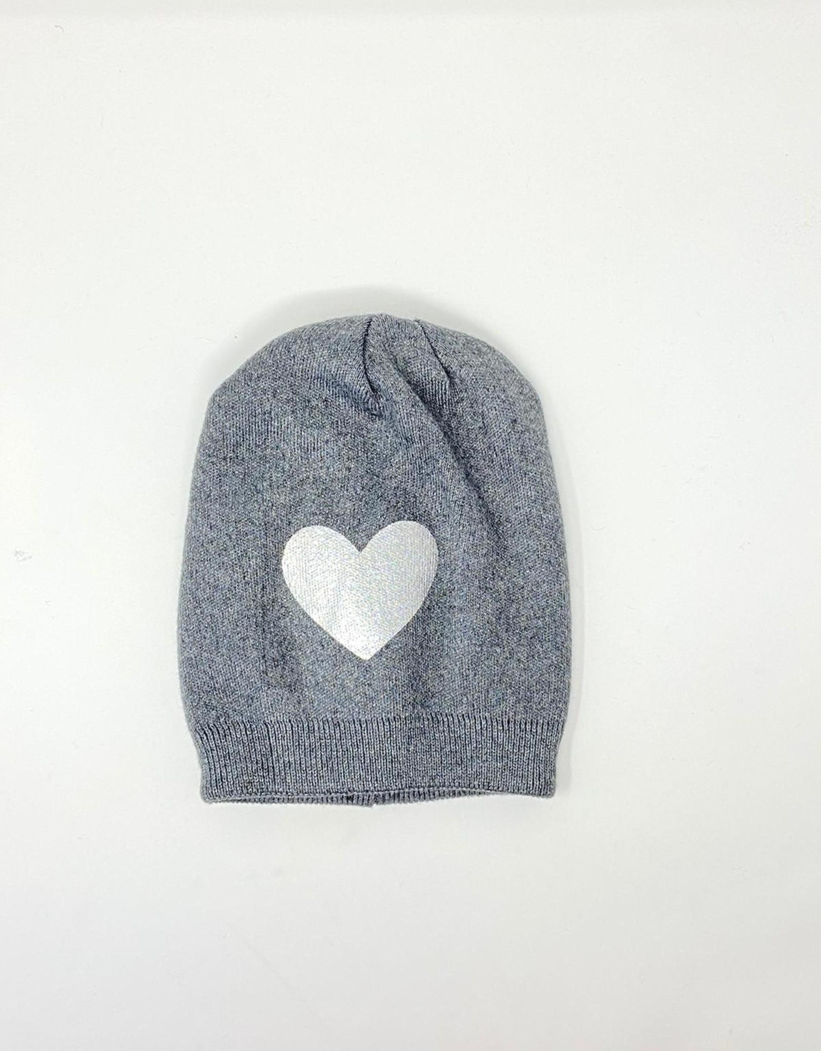 Dacee Dacee Knit Foil Heart Girls Hat