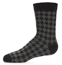 Memoi Memoi Houndstooth Boys Crew Sock