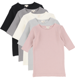 LIL LEGS LIL LEGS RIB 3/4 SLEEVE TEE BASIC COLORS