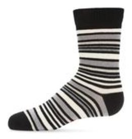 Memoi Memoi Multi Striped Boys Crew Sock