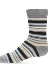 Memoi Memoi Multi Striped Boys Crew Sock
