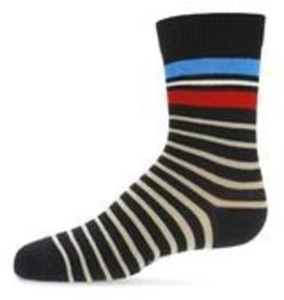 Memoi Memoi Striped Boys Crew Sock