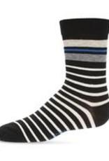 Memoi Memoi Striped Boys Crew Sock
