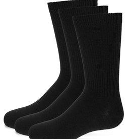 Memoi Memoi Thin Ribbed Crew Socks 3-Pack