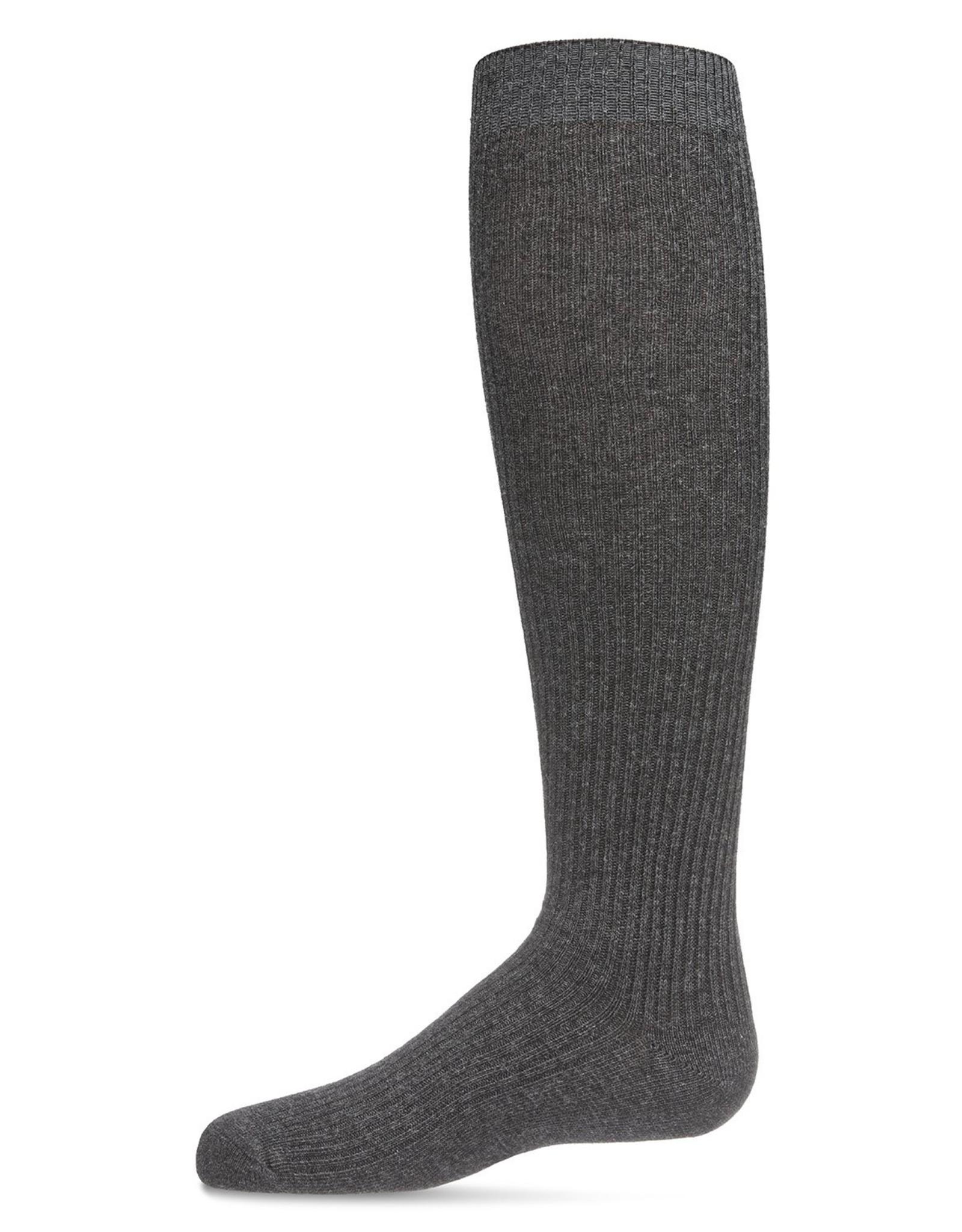 Memoi Memoi Thin Ribbed Knee Sock