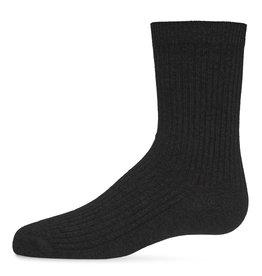 Memoi Memoi Thin Ribbed Crew Sock