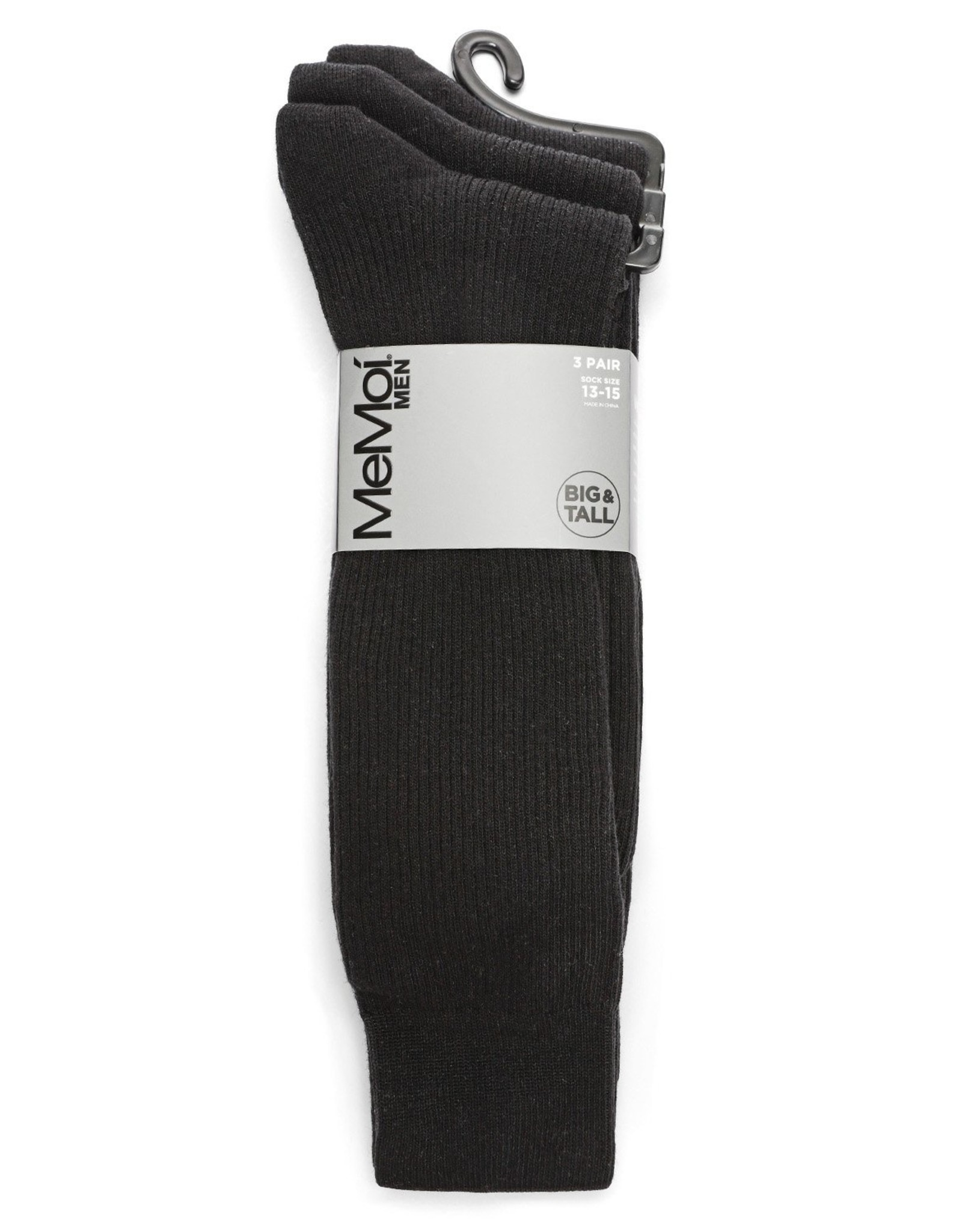 Memoi Memoi Mens Pin Rib Socks 3-Pack