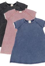 Analogie ANALOGIE SHORT SLEEVE DENIM WASH DRESS