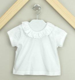 Babidu Short Sleeve T-Shirt with Ruffle Collar