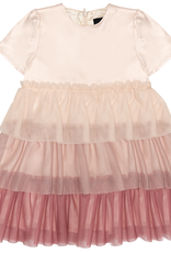 Abigail Abigail Satin Dress with Tulle Layers