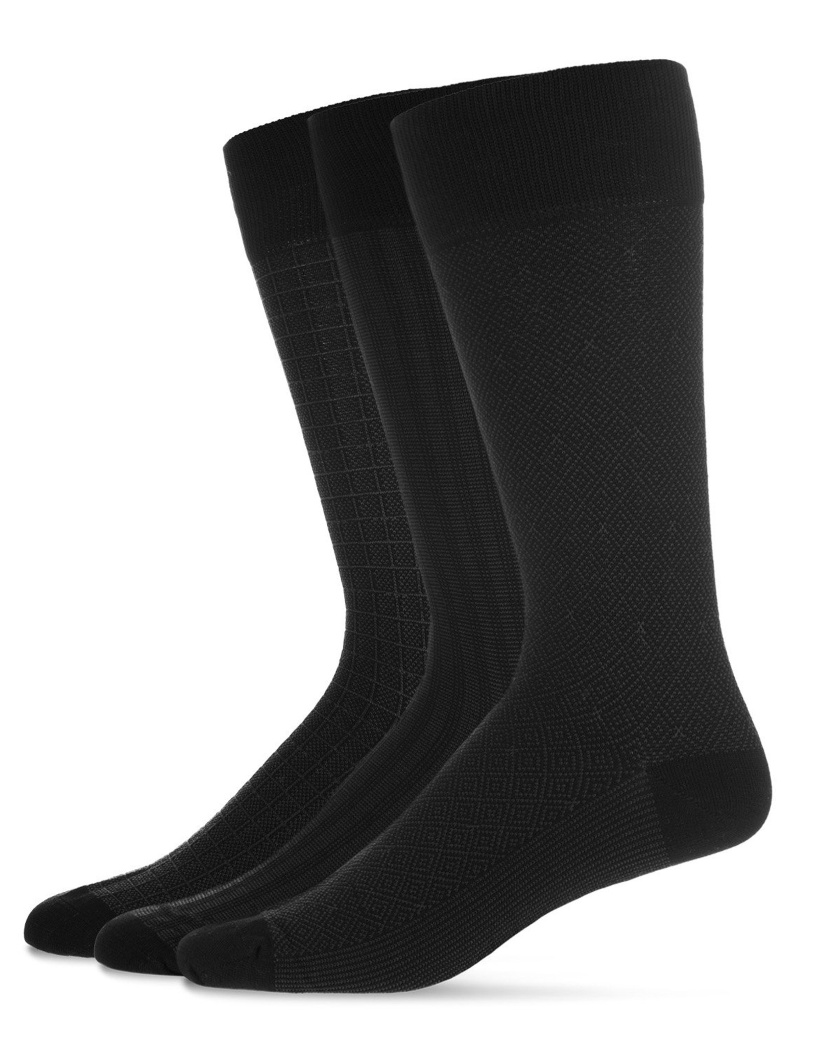 Memoi Memoi Mens Mercerized 3 Pack Socks