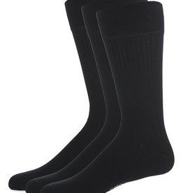 Memoi Memoi Mens Thin Ribbed Mercerized 3 Pack Socks
