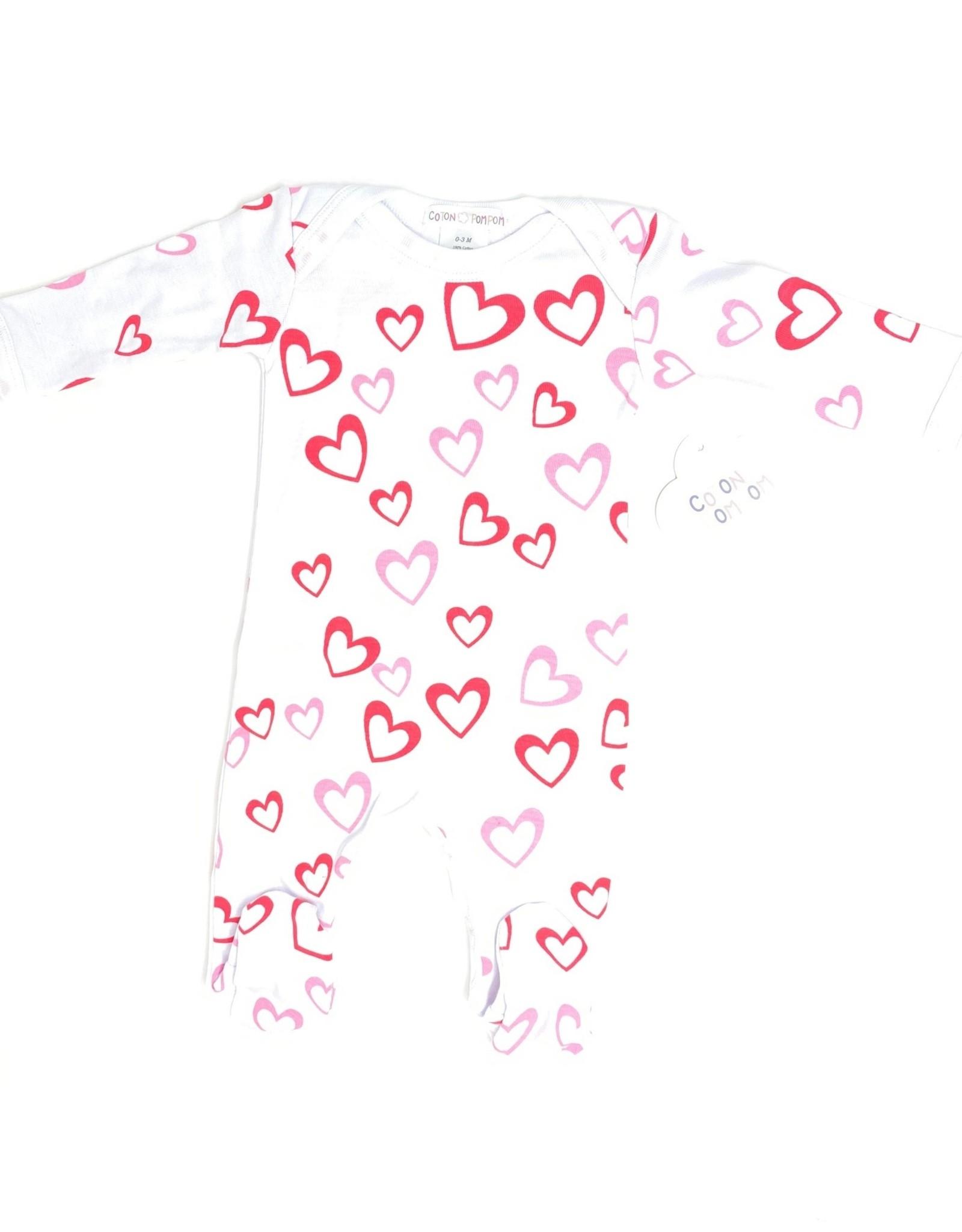 Coton PomPom Coton PomPom Stars/Hearts Footie