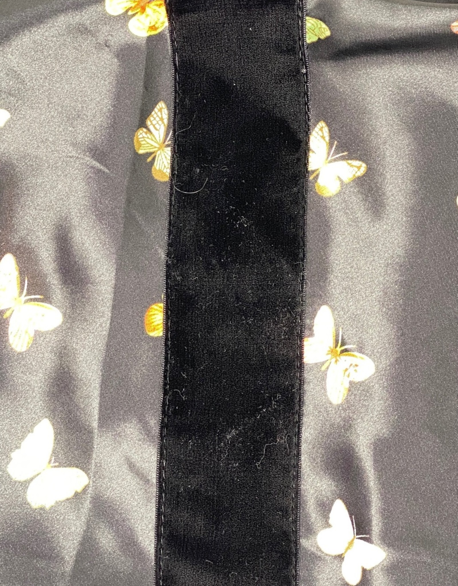 PinkDotNY Silky Butterfly Print (with Grip) Flat Mitpachat