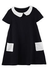 Bon Rever Bon Rever Waffle Collar and Pockets Short Sleeve Dress