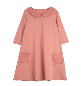 Bon Rever Bon Rever Waffle Collar and Pockets 3/4 Sleeve Dress