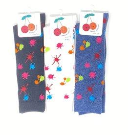 BimBam BimBam Splatter Knee Sock