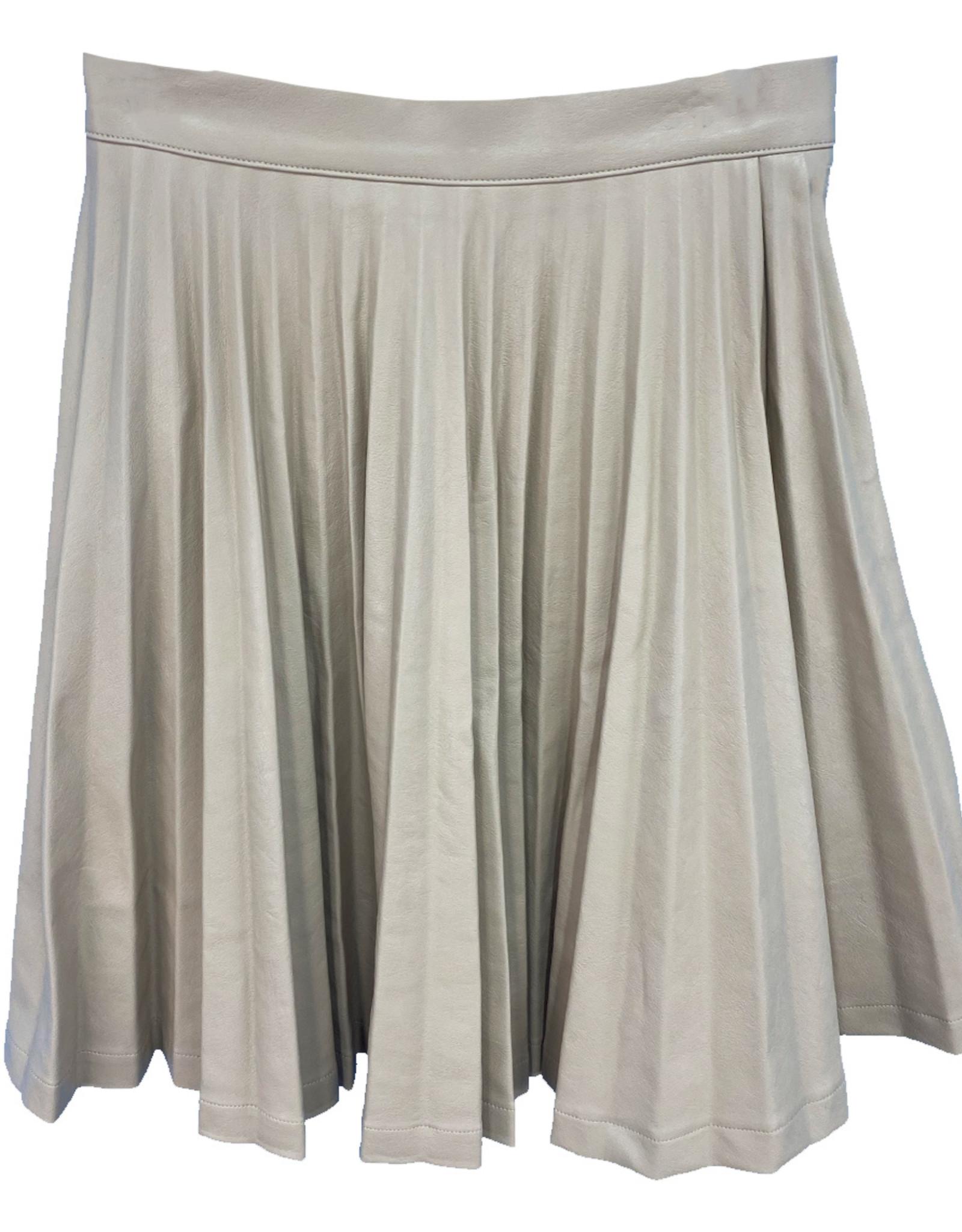 MeMe MeMe Accordion Pleated Pleather Skirt