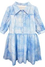MeMe MeMe Tie Dye Button Front Dress with Collar