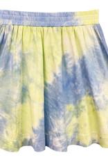 MeMe Basics MeMe Basics Tie Dye Skirt with Chambray Side Stripes