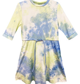 MeMe Basics MeMe Basics Tie Dye Dress with Drawstring Waist